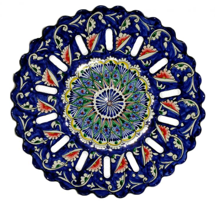 Керамическая тарелка для фруктов 33см